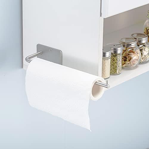 ZB ZealBoom Portarotolo Cucina Autoadesivo Acciaio Inox Porta Asciugamani Bagno Senza Foratura Porta Carta Igienica Portasciugamani da Parete per Bagno e Toilette Cucina