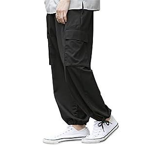 (アドミックス アトリエサブメン) ADMIX ATELIER SAB MEN メンズ パンツ T/R ストレッチ バギー カーゴ ワイドパンツ 裾スピンドル 02-12-9037 50 ブラック