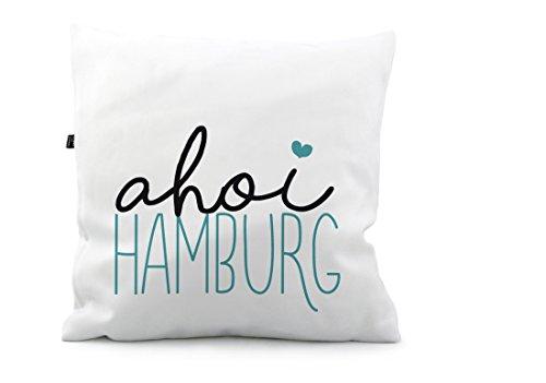 STINKSANDSTANKS Kissen AHOI Hamburg KS208 (40 x 40 cm, Polyester)