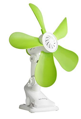 Innoliving INN509 Ventilatore da Tavolo Portatile 28 Cm con Clip INN-509, Plastica, Verde