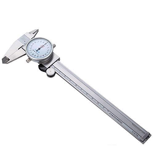 WH-IOE Erweiterte Messschieber Edelstahl-Uhr-Caliper 0-150/200/300 mm * 0,02 mm verchromt Messschieber for die Schule Millimeter Zoll-Conversion (Color : Silver, Size : 150mm)