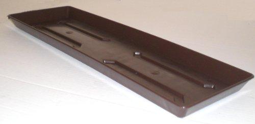 Onderzetter voor balkonbloembak plantenbak van kunststof 100 cm kleur bruin