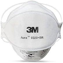 Máscara 3M Aura 9320 +Br Respirador Sem Válvula - 3M Lacrado - Embalado Individualmente cada Máscara - SOS Mascaras - FBA