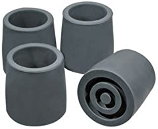 Top Glides Steel-Reinforced Rubber Style Walker Tips - Gray - 2 Pairs