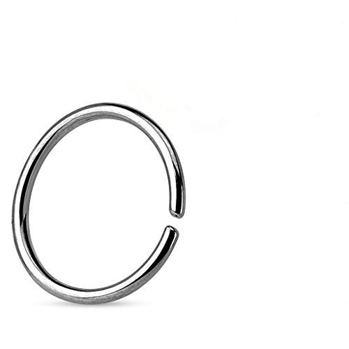 0.8MM x 8mm in acciaio chirurgico bordi arrotondati Ricotto senza saldatura Tragus, cartilagine o Setto Piercing