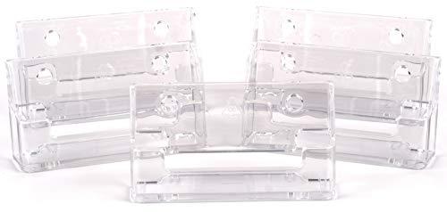 5 soportes para tarjetas de visita – Paisaje de un solo bolsillo – acrílico transparente – 100% reciclable (5 x tarjetero de presentación)