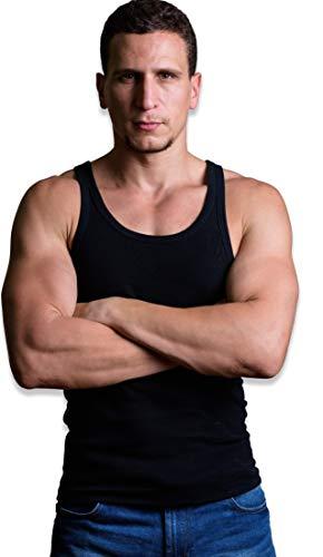 Andrew Scott Mens 6 Pack Cotton A-Shirt Tanks