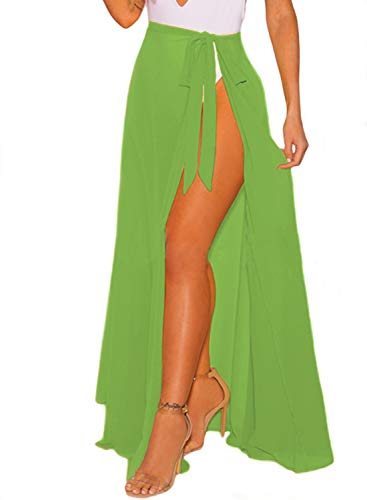 LIENRIDY Women's Swimsuit Beach Swimwear Wrap Bikini Cover Up Olive 2XL-3XL