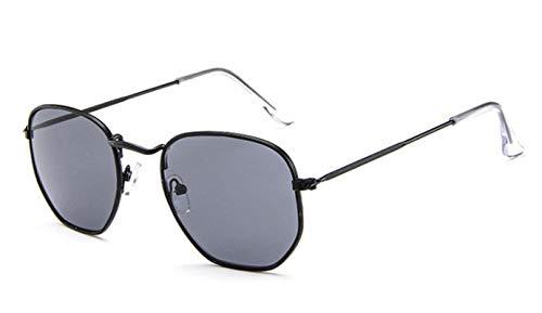 Gafas De Sol Nuevas Gafas De Sol Clásicas De Moda para Mujer,Diseñador De Marca, Gafas De Sol con Espejo De Conducción, Gafas De Sol Vintage para Hombre, Gafas De Sol Hexagonales De Metal