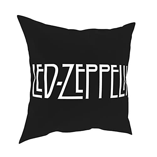 Federa decorativa per divano a casa, federa per cuscino quadrato a Led Zeppelin