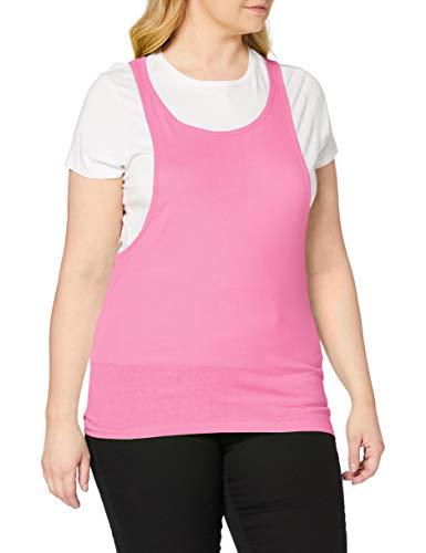 Urban Classics Ladies Loose Burnout Tanktop Camiseta de Deporte, Rosa (Neonpink), XS (Talla del Fabricante: XS) para Mujer