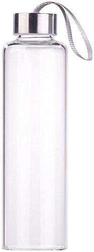 PEARL Edle Trinkflasche: Trinkflasche aus Borosilikat-Glas, 550 ml, spülmaschinenfest, BPA-frei (Wasserflasche Glas)
