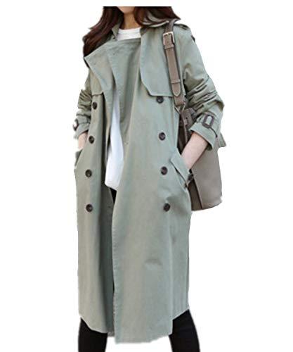 Eastery Damesjas, lange lente trenchcoat revers, elegante herfst met lange mouwen, comfortabele maten, modieus, klassiek, casual, twee rijen, outwear windbreaker