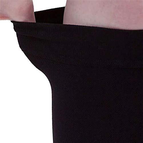 EROSPA® Kompressions-Sleeve Beinstulpen Laufstrümpfe – Waden Kompressionsstrümpfe – Laufen, Joggen, Radfahren – 1 Paar (Beige) - 5