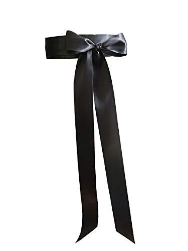 "Leimandy 2"" Wide Simple Classic Colorful Ribbon Sash for Dress Formal Wedding Dress (Black)"