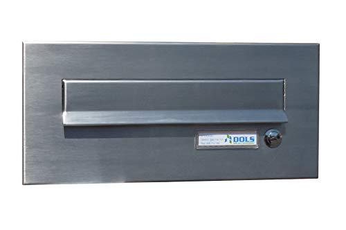 Letterbox24.de CD-2 - Buzón de acero inoxidable con timbre y placa para nombre (160 x 350 mm)