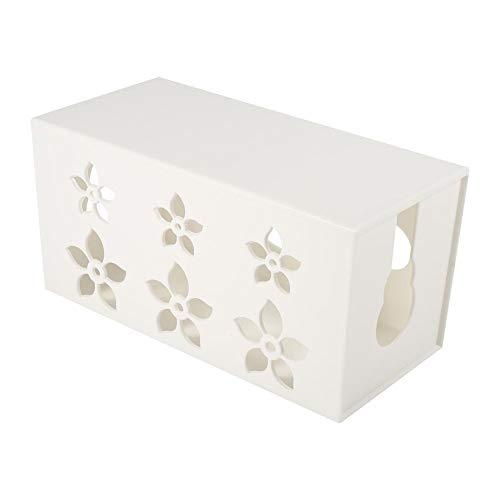 Wire Box - 3 Größen White Home Office Kabel Management Box Wire Power Strip Ordentlich Storage Organizer Case Hot(24 * 12 * 11.5)