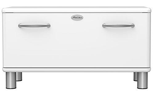 Tenzo Malibu Banc rangement avec Tiroir, Panneau/MDF, Blanc, 86 x 41 x 47 cm