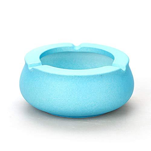 jbshop Ceniceros Cenicero de cerámica Creativo Oficina Mesa de Centro Sala de Estar Personalidad Decoración Cenicero Grande Ceniceros portátiles (Color : Blue)
