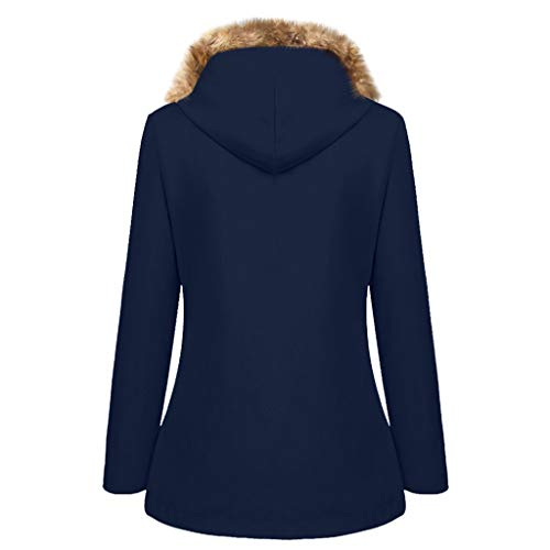 Komise Womens Solid Verdickung Pelzkragen Jacke Outdoor Plus Size Hooded Windproof Coat