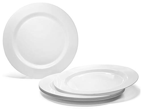 ' OCCASIONS ' 120 Plates Pack, Heavyweight Disposable Wedding Party Plastic Plates (6.25'' Dessert/Bread Plate, Plain White)