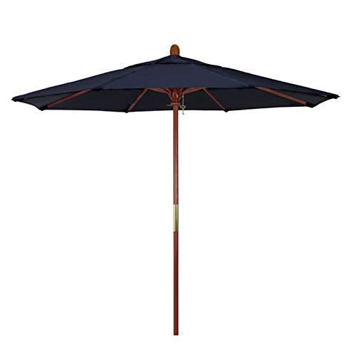 Sombrillas de Jardín al Aire Libre, Parasol Redondo Azul Sombrilla Impermeable Grande de 7 Pies / 9 Pies, para Playa/Balcón/Piscina (Size : 2.1mX2.5m/6.9ftX8.2ft)