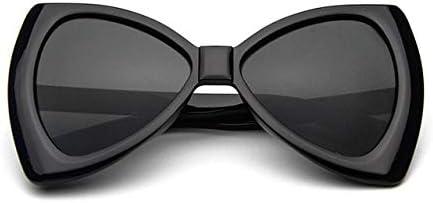 RJGOPL des lunettes de soleil Leonliongravataborboleta oculosde sol feminino oculos de sol grande quadro uv400 tac lunette soleil femme plus la taille Black Gray