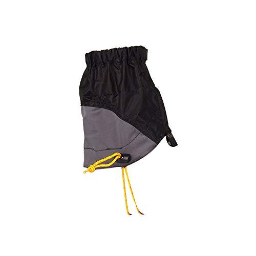 Leichte Knöchel-Schneedecke wasserdichte Gamaschen Schuhschutz Schlammfester Wanderschuh Reißfester Überzug Mit Kordelzug (Schwarz)