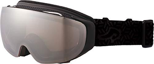 AXE(アックス) スキー メンズ ゴーグル 偏光レンズ ヘルメット対応 メガネ対応 ノーズフィット UVプロテクション マットブラック AX899WMD