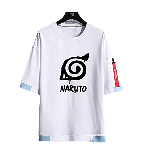 FMBK666 Naruto, Camisas Deportivas de Manga Corta para Hombre, Jersey de Verano con Uniforme Transpirable y Estampado 3D para Amantes de los cómics