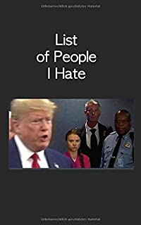 List of People I Hate: Diary with Thunberg und Trump cover (German Edition)