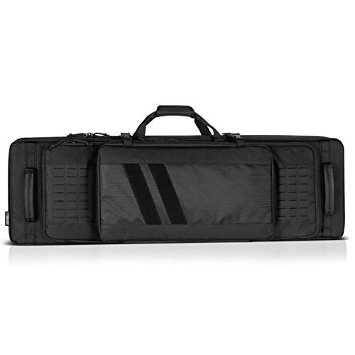 Savior Equipment 46 Inch 600D Polyester Specialist Double Rifle Gun Dual Pistol Pocket Carrying Case, Black