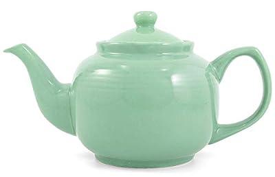 Seafoam Green Classic 6 Cup Ceramic Teapot