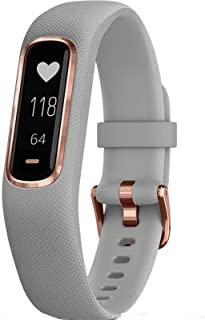 Garmin 010-N1995-12 REFURBISHED Small/Medium Gray Band with Rose Gold Hardware Vivosmart 4 Activity Tracker