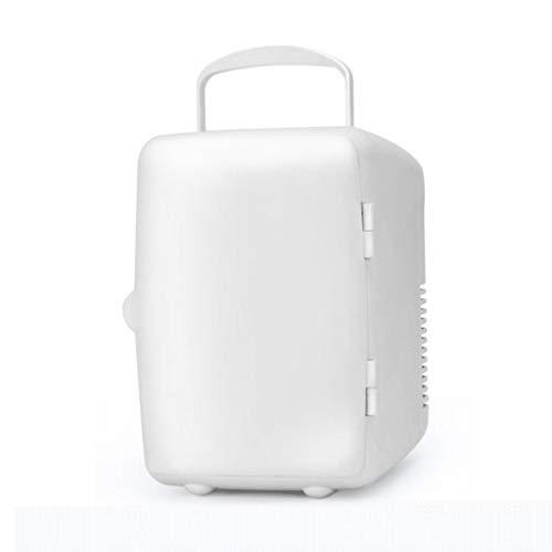 LDDLDG Mini Refrigerador Nevera 4L Mini refrigerador refrigerador y Calentador Mini vehículo refrigerador portátil para Coche y Casa (Color : White)