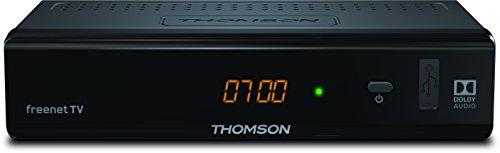 THOMSON THT741 DVB-T2 Receiver für digitales Antennenfernsehen mit freenet TV und 3 Jahre Garantie 【FullHD, HDMI, USB, SCART, nur für DE geeignet】 schwarz