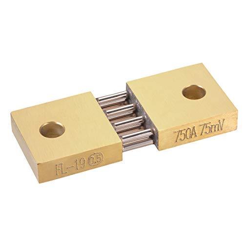 Shunt Resistor 750 A 75 mV para DC Current Ammeter Analógico Panel Meter External FL-19 Shunt Divider