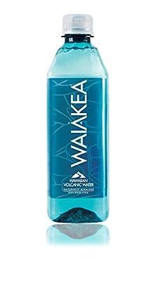 Waiakea Hawaiian Volcanic Water, Naturally Alkaline, 100% Upcycled Bottle, 500mL (Pack of 24)
