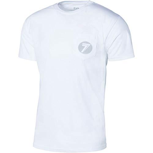 Seven MX - Camiseta de tejón para Adulto, Color Blanco y Reflectante, Talla XL
