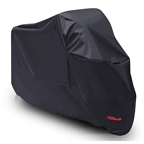 Telo per Moto Impermeabile XL, Coprimoto Copri Scooter Moto con Rivestimento in PU, Cinturini Elastici e Cintura Antivento