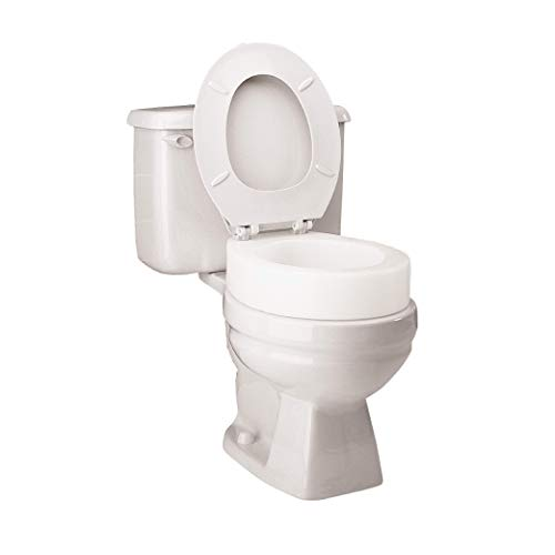 Product Image of the Carex Toilet Seat Riser, Elongated Raised Toilet Seat Adds 3.5 inches to Toilet Height, for Assistance Bending or Sitting, 300 Pound Weight Capacity