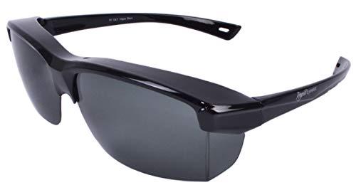 Rapid Eyewear 'Vogue' SOBREGAFAS DE SOL POLARIZADAS negro. Para hombre y mujer. Ajuste sobre gafas de hasta 140 mm de ancho. Para la conducción, la pesca, el ciclismo, etc.