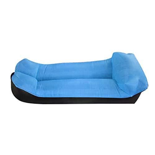 LUOXIYOUXUAN Sofá plegable de aire hinchable, tumbonas de aire Protable, impermeable, para exteriores, con bolsa de almacenamiento, para viajes, camping, piscina, playa, puede soportar 200 kg (azul)