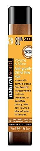 Natural World Chia Graines de traitement d'huile 25 ml