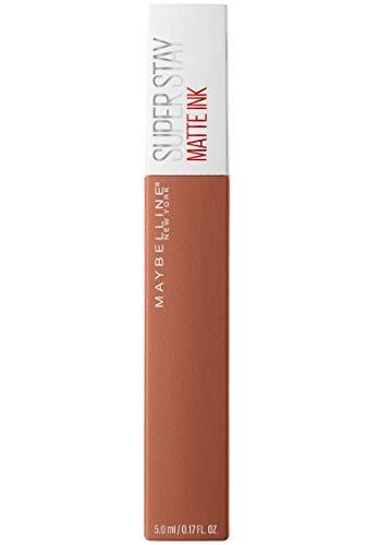 Maybelline New York Tinta Labbra SuperStay Matte Ink, Rossetto Matte Liquido a Lunga Tenuta, Fighter (75), 5 ml