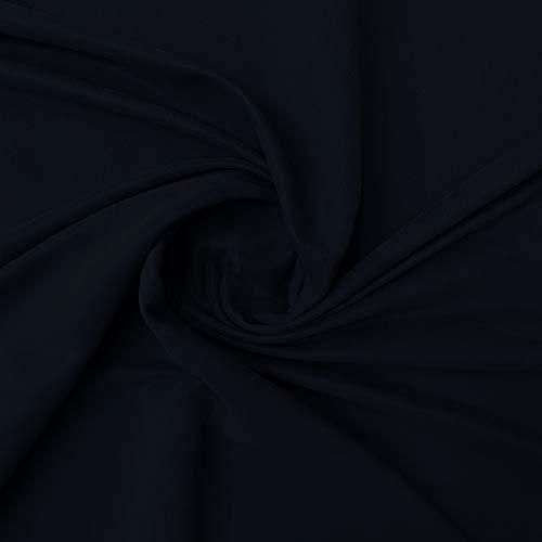 Tessuto Microfibra Altezza 150 cm Vendita al Metro Stoffa Ideale per Rivestimenti (Nero)