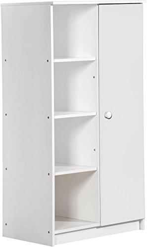 Design Vicenza 'Avola Una Porta Armadio, in Legno, Colore: Bianco