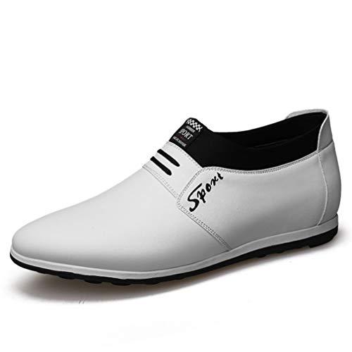 Qianliuk Herren Loafers Leder Abendkleid Schuhe Casual Business Office Arbeitsschuhe Slip On Pointed Toe Fahrschuhe