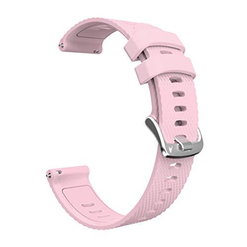 WE-WHLL Reemplazo de Correa de muñeca de Silicona de 20 mm para Gar-MIN Forer-unner 245M / 245/645 Universal-Pink