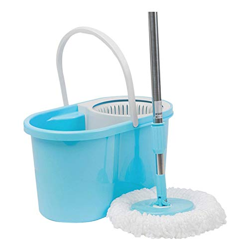 Wet and Dry microfiber Mop with Stainless Steel handle, Household Cleaning Products Mop Bucket, Suitable for all Floor Types